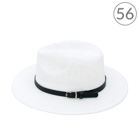 Jednokolorowy kapelusz fedora na lato