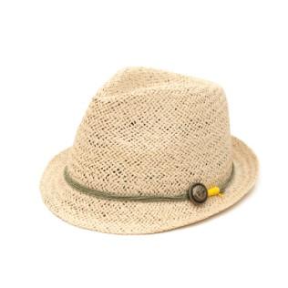 Naturalny kapelusz z kotwiczką