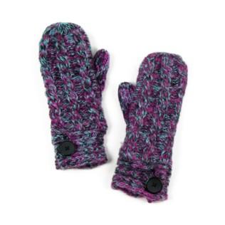 Jednopalczaste, melanżowe rękawiczki