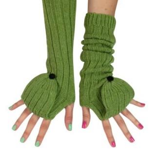 Długie rękawiczki-łapki