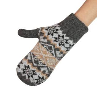 Ciepłe, jednopalczaste rękawiczki - gwiazdki