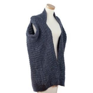 Kamizelko-sweterek w melanżach