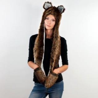 Niedźwiedzi kapturo-szalik